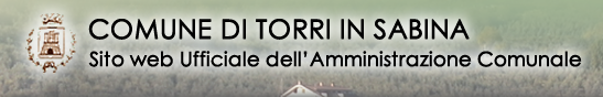 Comune di Torri in Sabina - sito web ufficiale dell'Amministrazione comunale