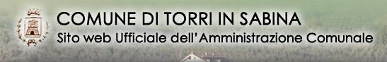 Comune di Torri in Sabina - sito web ufficiale dell'Amministrazione comunale